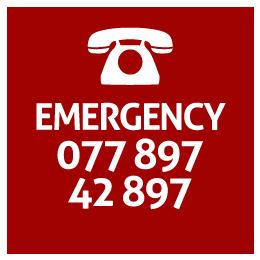 Emergency 077 987 42 987